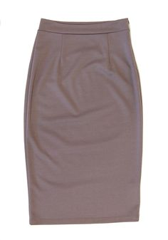 Knit Pencil Skirt in Mushroom