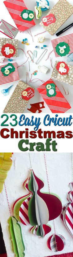 This list of 23 Easy Cricut Christmas Crafts are perfect to  kick-start your holiday spirit and they're so much fun for the whole family to  create. #christmas #diychristmas  #holidays #diyholidayideas #diychristmasideas #diychristmasdecor #diychristmasgiftideas  #christmascrafts #christmaskidcrafts #diygiftideas #christmasdiy  #christmascrafts #diychristmasideas