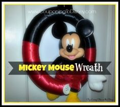 You can make this super cute Mickey Mouse wreath for less than $10!