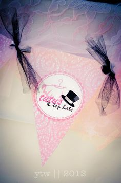 Party Banner :: B's 2nd Birthday {tutu's & top hats} : Tutu Party : #tutuparty  #tophatparty  #birthday  www.facebook.com/dreamhairaccessories