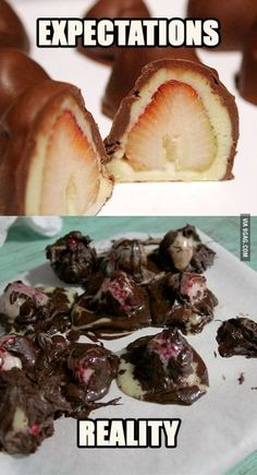 13. Chocolate Covered Strawberry Cake Bites | Community Post: 31 Horrendous Pinterest Fail Monstrosities