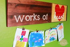 Works of Heart Gallery Display