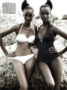 twin, beauti women, model, vogue italia, bikini bodi, black beauti, beauti peopl, beauti photo, les deux