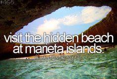 Yep...the hidden beach