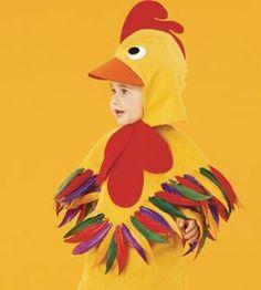 Fall & Halloween felt tutorial: Rooster costume
