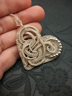 Silver Plated Filigree Heart Pendant