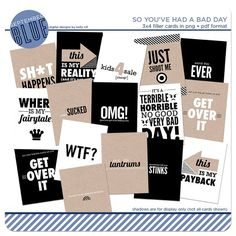 Bad Day Cards :(