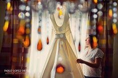 dress + chandalier