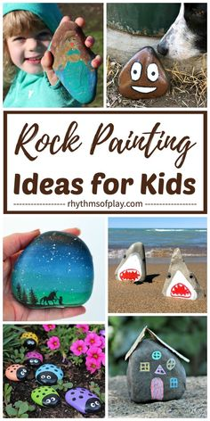 Rock Painting Ideas & Painted Rock Crafts! Learn how to paint rocks and explore the best rock painting ideas for kids and adults with these easy ideas and rock painting tips. Have you ever found a painted rock in nature? Come see what we found! | #PaintedRocks #RockPainting #ArtOutside #RockArt #KidsCraft