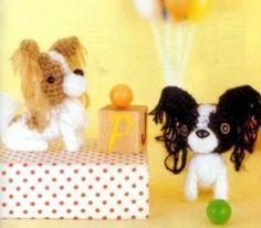 Papillon dog - amigurumi