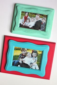 Easy Layered Wooden Frames-TUTORIAL. Smashed Peas and Carrots created this project, as apart of Plaid's Martha Stewart Mother's Day Campaign. See it here, http://smashedpeasandcarrots.blogspot.com/2012/04/easy-layered-wooden-frames-tutorial.html