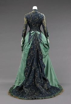 Afternoon dress by House of Worth, ca. 1875 Paris, the Met Museum
