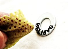DIY tutorial on how to make personalized washer jewelry... The possibilities are endless!