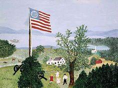 Grandma Moses ~ The Flag