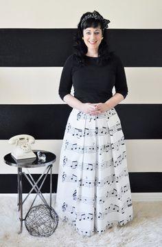 Music Note Skirt