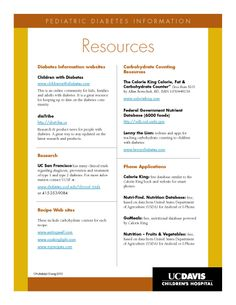 Pediatric Diabetes resources