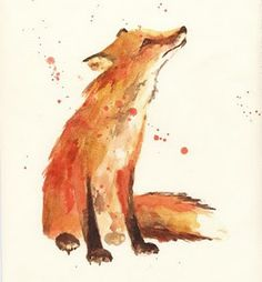 pictures like this make me believe i can paint. ha. Tattoo Ideas, Animals, Watercolor Tattoos, Paint, A Tattoo, Quot, Print, Red Fox, Fox Art