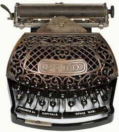 Antique Ford Typewriter - 1890's I have never seen one like this!