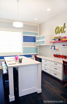 """Craft room."" #furniture #painting #craftroom #inspiration"