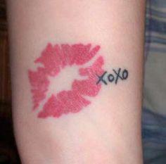 Lip Print Tattoo Demi Lovato