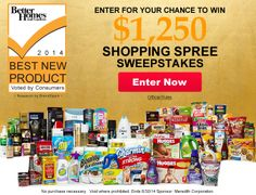 Best New Product Awards Shopping Spree Sweepstakes   (Ends June 30, 2014.)