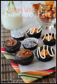 3 Way Brownie Bites