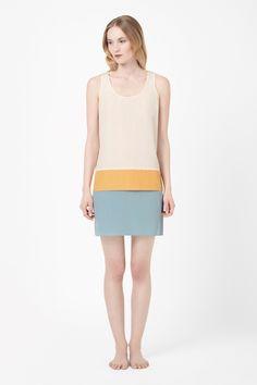 Silk panel dress COS