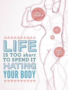 Life is too short to spend it hating your body  http://anxietysocialnet.com/anxiety-blog