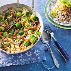 11 november - Spruiten in de bonus - Recept - Oosterse kip met spruitjes en witte kool - Allerhande