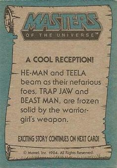 Masters of the Universe trading card #73 back