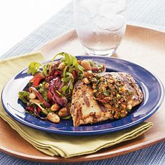 Grilled Sun-Dried Tomato Chicken Breast | MyRecipes.com #MyPlate #protein