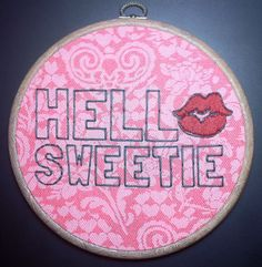 Doctor Who - River Song Hello Sweetie Embroidery \\