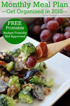 Save time in the kitchen with this January Monthly Meal Plan! Budget friendly menu plan - Kid approved! Pin to your Recipe Board!