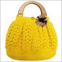 Crochet Bags | Coat Pant - yellow