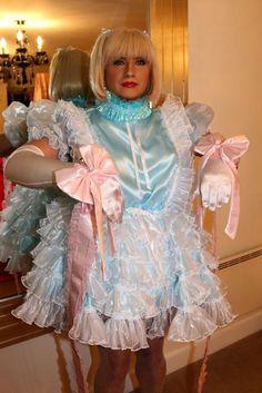 Sissy Maid Isla in Mincing Sissy Ribbons