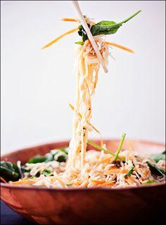 Shirataki Noodles – Vegan Sesame Ginger Salad – House Foods Tofu Shirataki Noodles   Calm Mind Busy Body