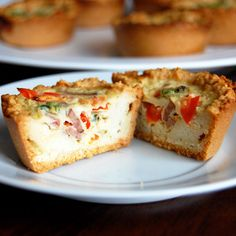 Mini Quiches with Almond Flour Crust-  this is one of my favorite breakfasts and it is so versatile. mini quiches, paleo mini, free mini, almond flour crust