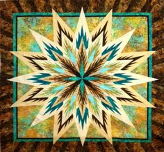 Feathered Star, Quiltworx.com, Made by Certified Instructor Ginny Radloff.