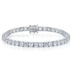 Diamonvita® 15 5/8 ct. tw. Bracelet in Sterling Silver available at #HelzbergDiamonds #AisleStyle #Entry
