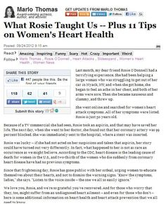 What Rosie Taught Us -- Plus 11 Tips on Women's Heart Health.