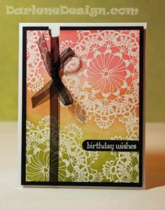 Emboss Resist..white embossing and distress inks