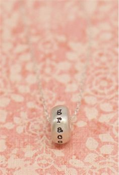 sterling silver sugar donut necklace from Lisa Leonard Designs
