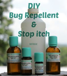 Homemade DIY Bug/Insect Repellent and DIY Stop Itch – Keep Insects Away Naturally - Essential oils - Repel & find relief