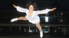 Dorothy Hamill goes airborne during one of her performances.