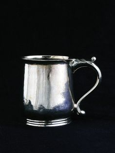 """George Washington's Christening Cup, Alexander Kincaid, ca. 1732 Scotland, presented to 2-month-old George Washington at the time of his Baptism, April 3, 1732, 3 1/8"""" height."""