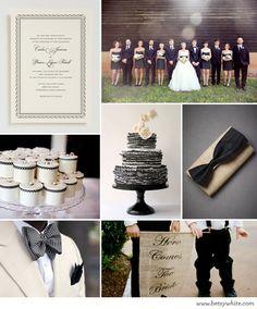 black and neutral nuptials