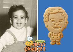 Birthday Party - Vintage Photos - Custom Cookies - Unique Favors - Personalized #Birthday #Party #Unique #Favors #Custom #Cookies #BabyPhotos