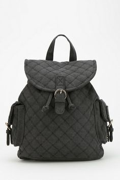 Quilted Canvas Backpack