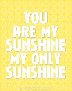 My Sunshine!