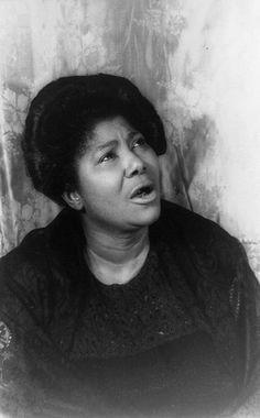 """Mahalia Jackson """"The Queen of Gospel"""" - gospel singer"""